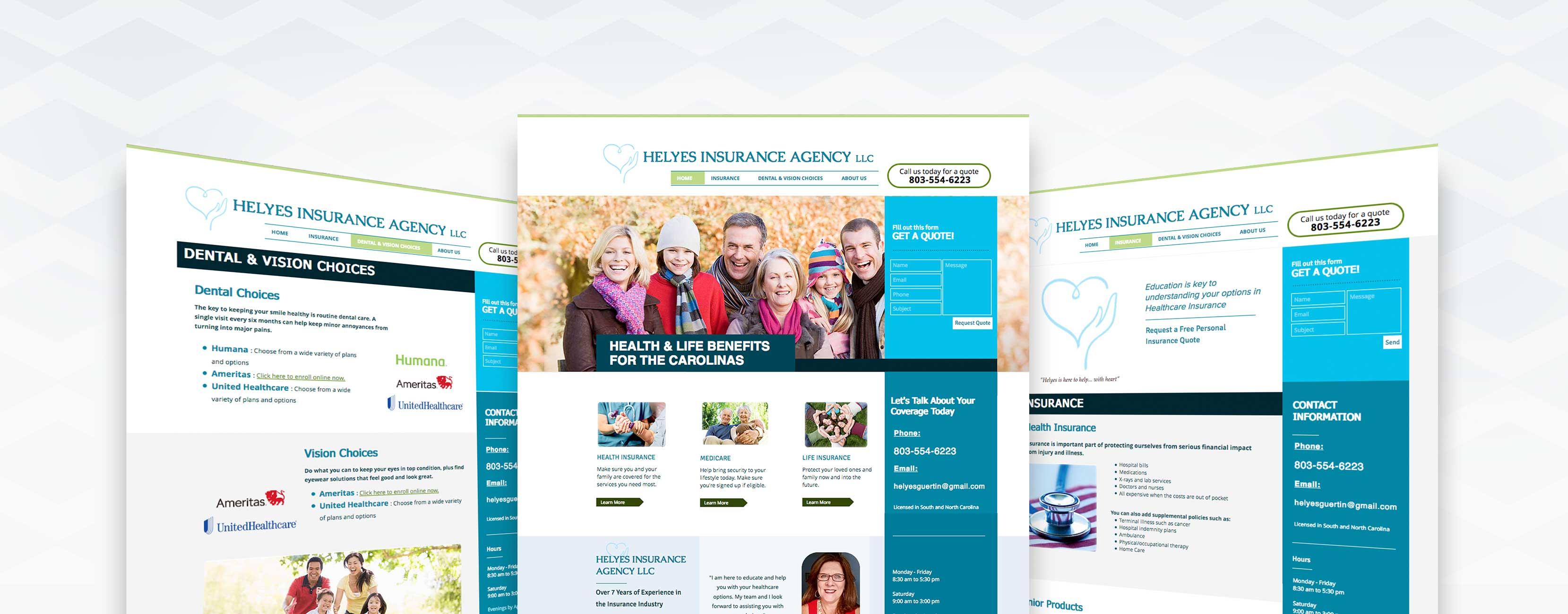 Helyes Insurance Agency Website