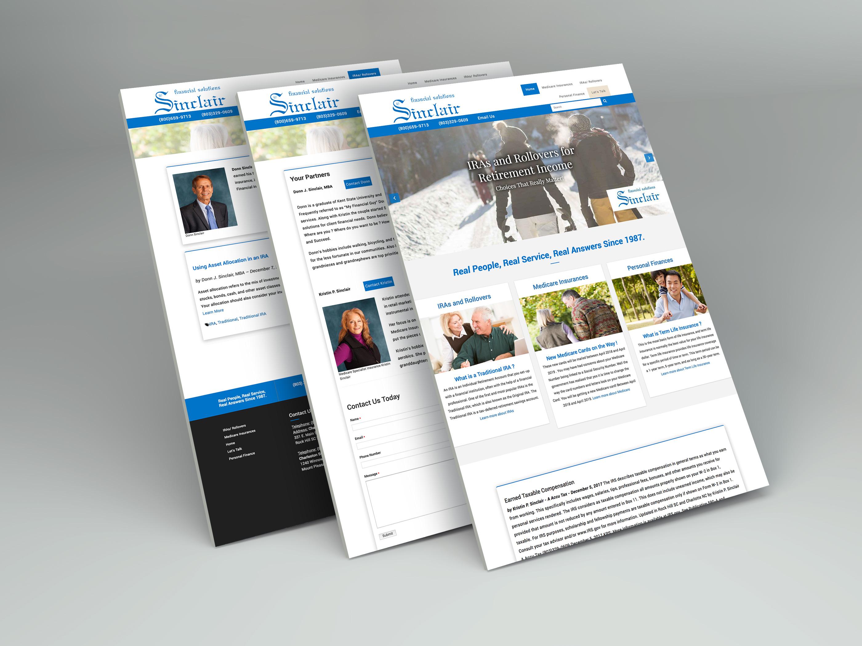 Sinclair Financial Solutions Website