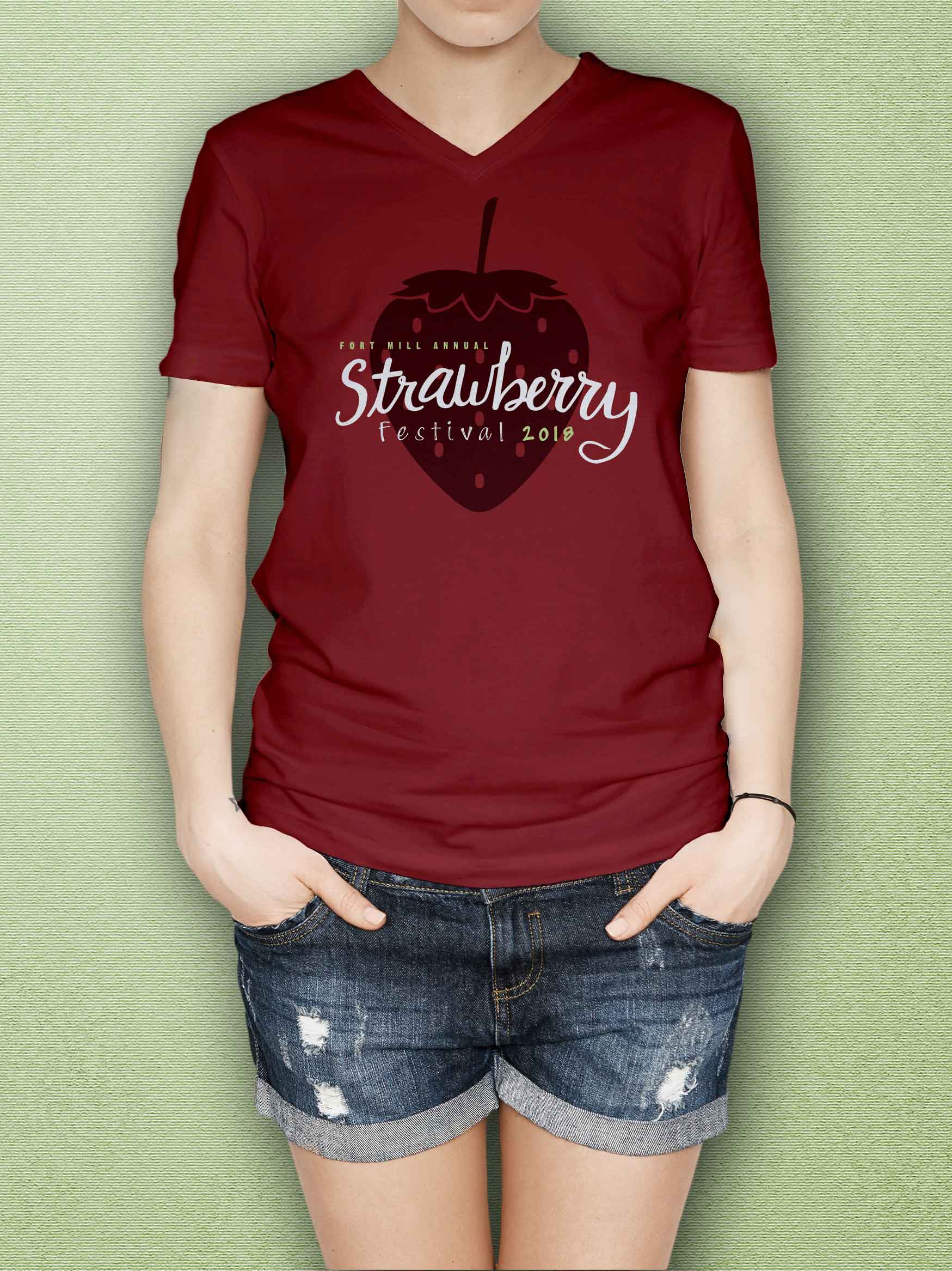 Graphic Design- strawberry festival