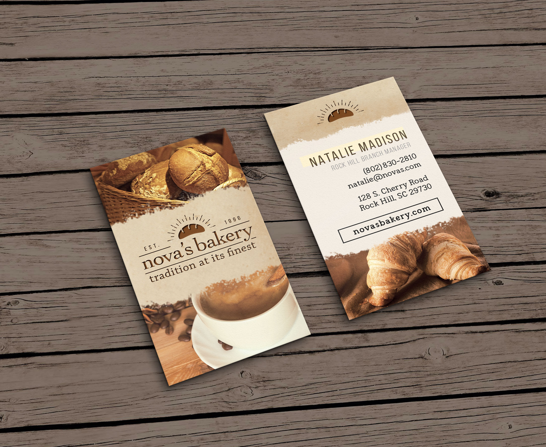 graphic design work vertical business card
